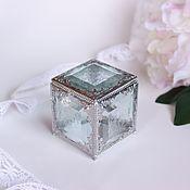Свадебный салон handmade. Livemaster - original item Snow Queen. Transparent. Ring box. Ring pillow alternative. Handmade.
