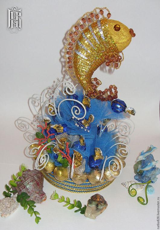 Подарки для мужчин, ручной работы. Ярмарка Мастеров - ручная работа. Купить Волшебная рыба Тай. Handmade. Синий, талисман