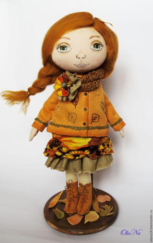 Коллекционные куклы ручной работы. Ярмарка Мастеров - ручная работа. Купить Девочка-осень. Handmade. Рыжий, осенняя кукла