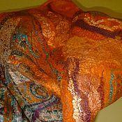 Аксессуары ручной работы. Ярмарка Мастеров - ручная работа валяный бактус  Оранжевое настроение. Handmade.