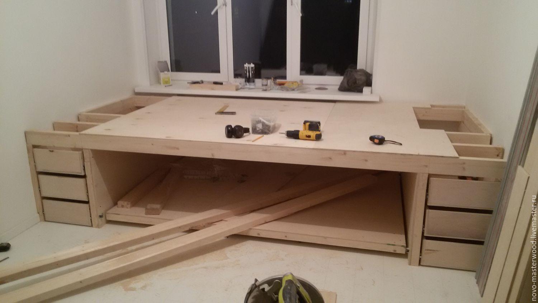 Как сделать кровать подиум своими руками пошагово Фото 25