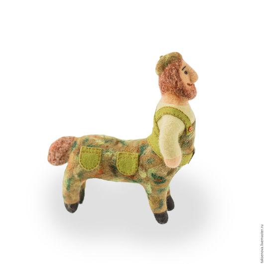 Коллекционные куклы ручной работы. Ярмарка Мастеров - ручная работа. Купить Валяная из шерсти игрушка Полкан. Handmade. Хаки, защитник