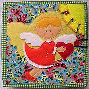Куклы и игрушки ручной работы. Ярмарка Мастеров - ручная работа Развивающая книга Ангелочек с сердечком. Handmade.
