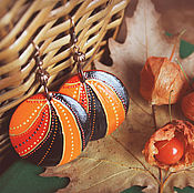 Украшения handmade. Livemaster - original item Wooden earrings
