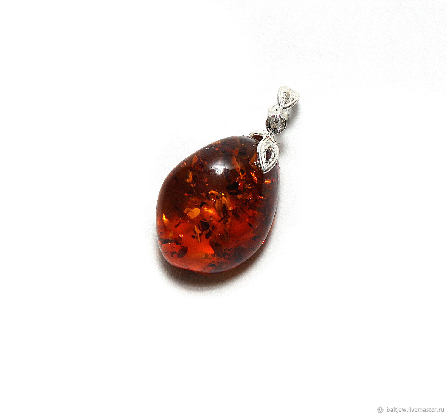 Pendant with amber ' Sea drop', Pendant, Moscow,  Фото №1