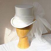 Свадебный салон ручной работы. Ярмарка Мастеров - ручная работа Свадебный цилиндр невесте. Handmade.