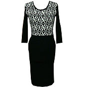 Одежда ручной работы. Ярмарка Мастеров - ручная работа Платье чёрно-белое футляр,маленькое чёрное платье. Handmade.