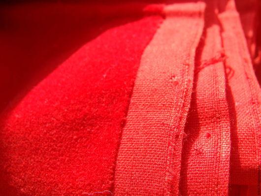 Куклы и игрушки ручной работы. Ярмарка Мастеров - ручная работа. Купить Бархат красный, винтаж.. Handmade. Ярко-красный