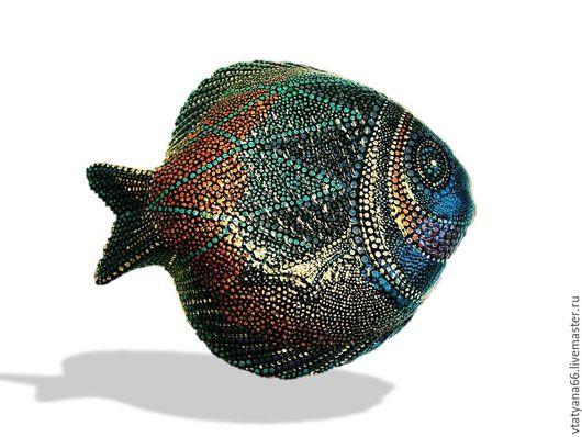 Животные ручной работы. Ярмарка Мастеров - ручная работа. Купить Тарелка декоративная Рыба-клоун. Handmade. Точечная роспись