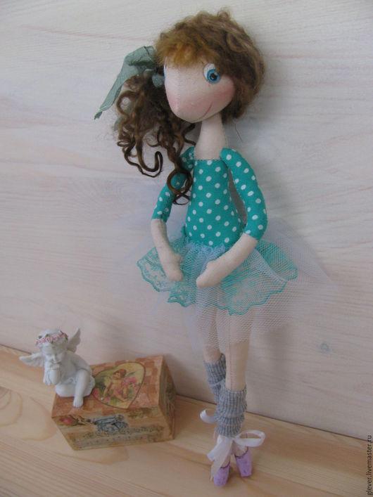 Коллекционные куклы ручной работы. Ярмарка Мастеров - ручная работа. Купить Маленькая балерина Кати. Handmade. Зеленый, подарок, балерина