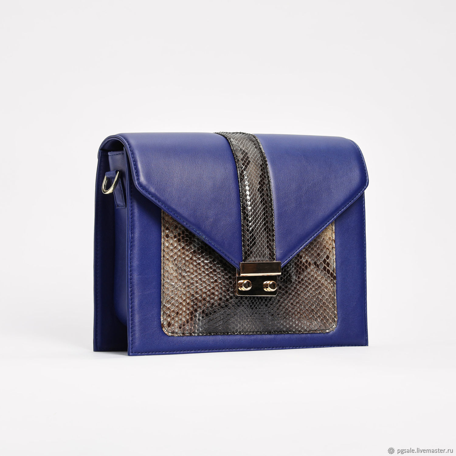 Bag made of leather and natural Python, Classic Bag, St. Petersburg,  Фото №1