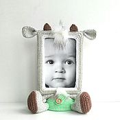 Куклы и игрушки ручной работы. Ярмарка Мастеров - ручная работа Фоторамка Козлик. Handmade.