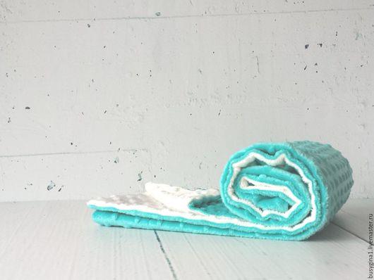 """Текстиль, ковры ручной работы. Ярмарка Мастеров - ручная работа. Купить Плед детский """"Вкусная бирюза"""". Handmade. Плед для новорожденного"""