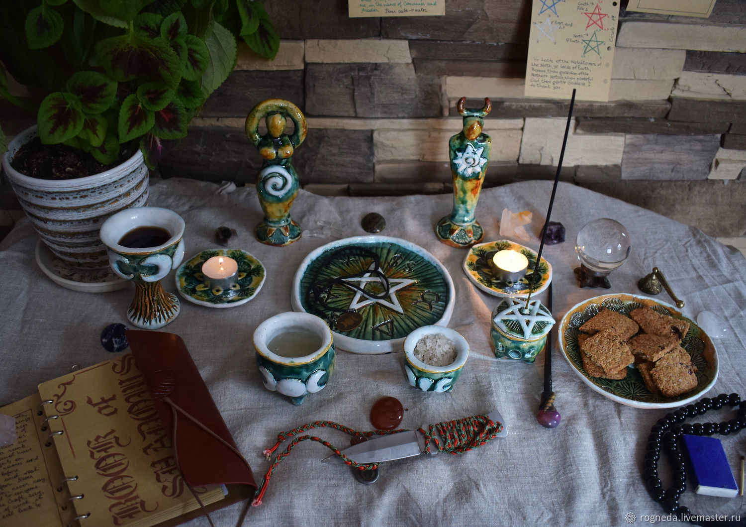 Altar ceramic set (10 pieces) - wiccan pagan altar kit, Altar of Esoteric, Moscow,  Фото №1