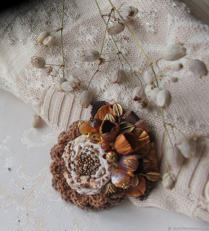Сухие цветы. Брошь.  Бохо шик, Брошь-булавка, Волжск,  Фото №1