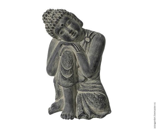 Статуэтки ручной работы. Ярмарка Мастеров - ручная работа. Купить Статуэтка Будды подвесная серая с эффектом старины (бетон, гипс). Handmade.