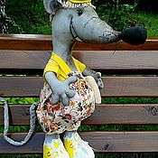 Мягкие игрушки ручной работы. Ярмарка Мастеров - ручная работа Текстильная игрушка Веселый Мышонок-символ года. Handmade.
