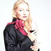 """Пиджаки ручной работы. Ярмарка Мастеров - ручная работа Авторский валяный жакет """"wine night"""". Handmade."""