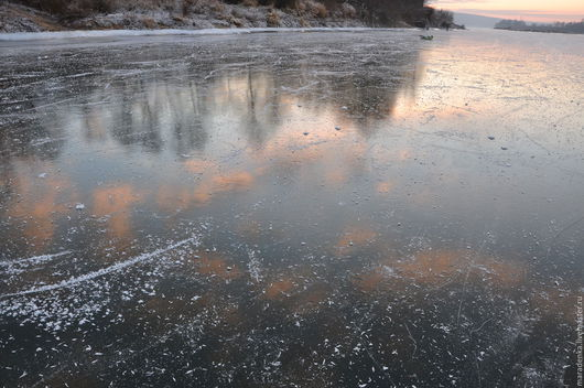Фотокартины ручной работы. Ярмарка Мастеров - ручная работа. Купить Лёд. Handmade. Бледно-розовый, ледяной, зимняя фотография, голубой