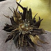 Украшения handmade. Livemaster - original item The colors of the skin. Brooch made of leather .leather colors.flowers leather.. Handmade.