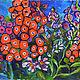 Картины цветов ручной работы. Ярмарка Мастеров - ручная работа. Купить Флоксы. Handmade. Картина, цветы, флоксы, коралловый