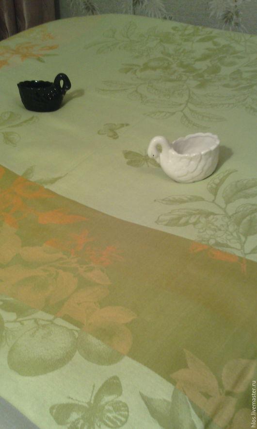 """Текстиль, ковры ручной работы. Ярмарка Мастеров - ручная работа. Купить льняная скатерть очень большая """" ОСЕНЬ"""". Handmade."""