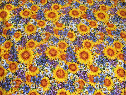 Яркая цветочная и летняя ткань! Минимальный метраж заказа-5м.