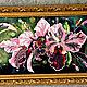 """Картины цветов ручной работы. Заказать Картина вышитая бисером """"Орхидеи"""". Юлия Будякова (YuliyaBudyakova). Ярмарка Мастеров. Вышитая картина"""