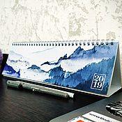 """Календари ручной работы. Ярмарка Мастеров - ручная работа Настольный арт-календарь """"Горы"""". Handmade."""