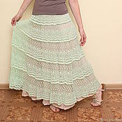 Юбки ручной работы. Ярмарка Мастеров - ручная работа Длинная юбка крючком Астра. Handmade.