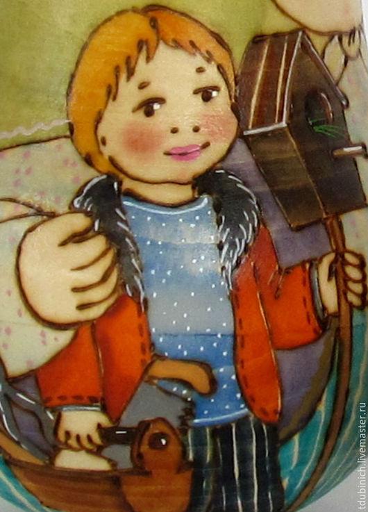 """Матрешки ручной работы. Ярмарка Мастеров - ручная работа. Купить Неваляшка крупная """"Весна"""", неваляшка музыкальная. Handmade. Неваляшка"""