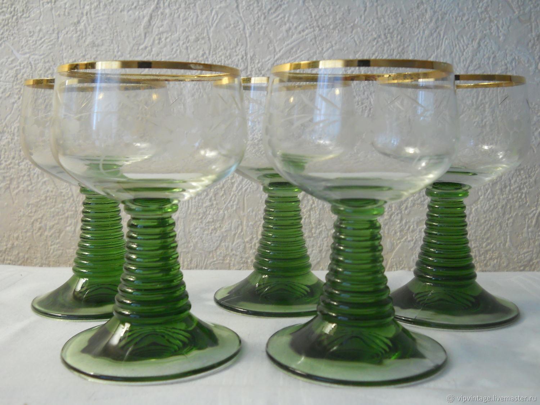 Винтаж: Стеклянные бокалы ремеры для вина (наливок) luminarc, Стаканы винтажные, Калининград,  Фото №1