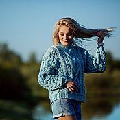 Одежда handmade. Livemaster - original item Sweater Mix of pale blue color. Handmade.