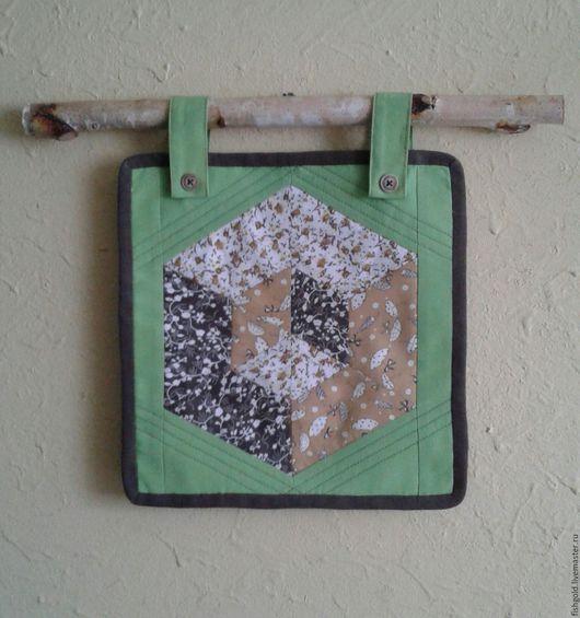 """Интерьерные слова ручной работы. Ярмарка Мастеров - ручная работа. Купить Панно """"Куб"""". Handmade. Зеленый, интерьерное украшение"""