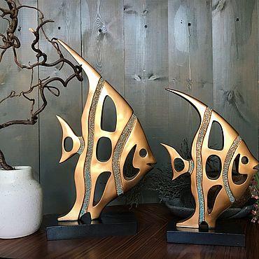 Для дома и интерьера ручной работы. Ярмарка Мастеров - ручная работа Статуэтки: Fish. Handmade.