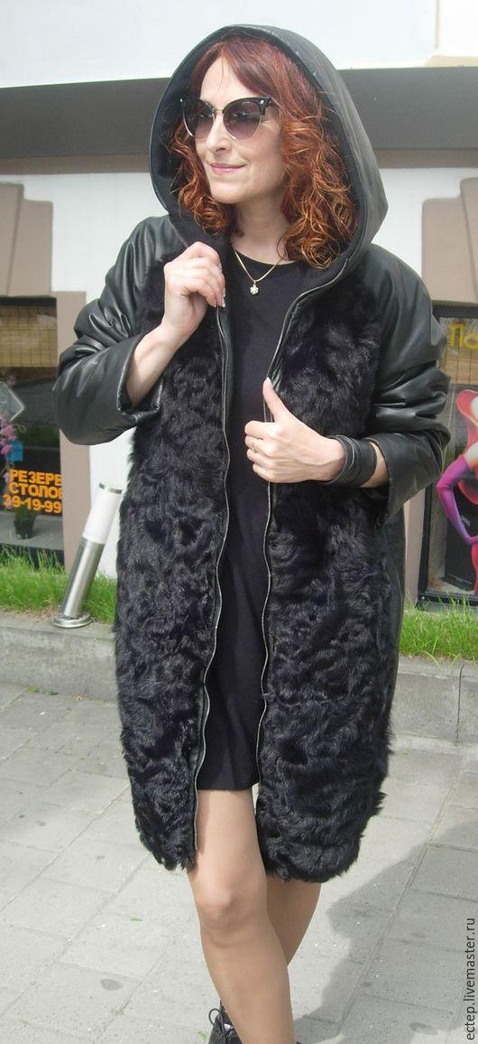 """Верхняя одежда ручной работы. Ярмарка Мастеров - ручная работа. Купить Пальто """"Мех+кожа"""". Handmade. Куртка меховая, шубка"""