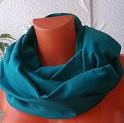 Аксессуары ручной работы. Ярмарка Мастеров - ручная работа Снуд - шарф бирюзовый. Handmade.