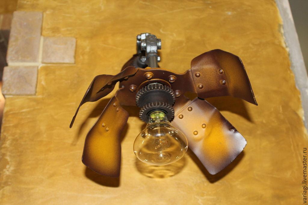 Sconces in the style of steampunk 'Fan', Sconce, Podolsk,  Фото №1