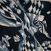 Аксессуары ручной работы. Ярмарка Мастеров - ручная работа Платок- Батик``Рыбки``. Handmade.