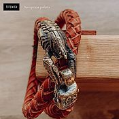 Украшения handmade. Livemaster - original item Bronze Cancer Bracelet | Skin. Handmade.