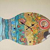 """Для дома и интерьера ручной работы. Ярмарка Мастеров - ручная работа Часы """"Люблю наряжаться"""". Handmade."""