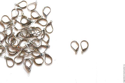 Для украшений ручной работы. Ярмарка Мастеров - ручная работа. Купить Сет - 26 пар - Швенза английский замок в серебре. Handmade.