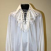 Одежда ручной работы. Ярмарка Мастеров - ручная работа Шелковая мужская рубашка с жабо. Handmade.
