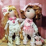 Куклы и игрушки ручной работы. Ярмарка Мастеров - ручная работа Кукла текстильная Машенька и Наташенька. Handmade.