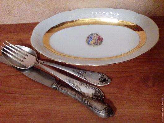 Винтажная посуда. Ярмарка Мастеров - ручная работа. Купить селедочница Чехословакия винтаж. Handmade. Комбинированный, фарфоровая посуда, распродажа, фарфор