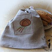 """Для дома и интерьера ручной работы. Ярмарка Мастеров - ручная работа Льняной мешок """"Для хлебушка"""". Handmade."""