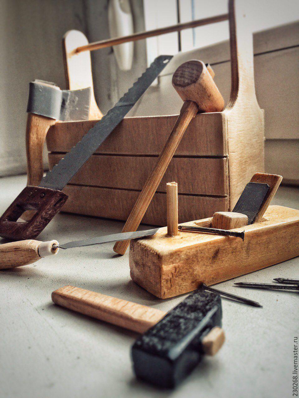 Миниатюрные столярные инструменты, Статуэтки, Москва,  Фото №1