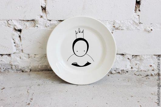 Тарелки ручной работы. Ярмарка Мастеров - ручная работа. Купить Тарелка Маленький принц Faien. Handmade. Белый, тарелка, тарелочка