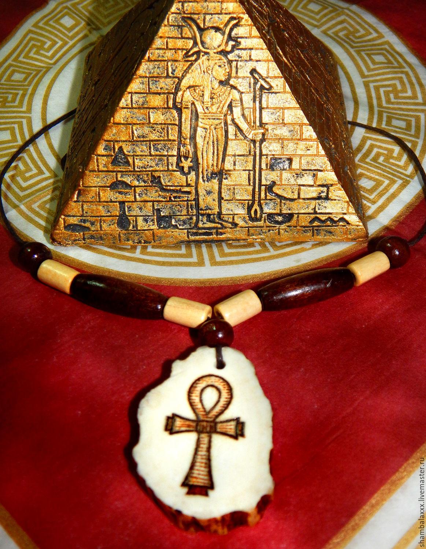 Amulet Cross Of Ankh Egyptian Symbol Elk Horn