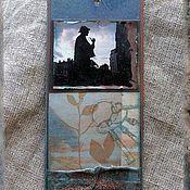 """Канцелярские товары ручной работы. Ярмарка Мастеров - ручная работа Закладка из коллекции """"Шерлок и Лондон"""" (№ 6). Handmade."""